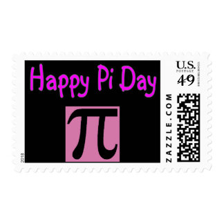 Día feliz del pi sellos