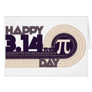 Día feliz del pi felicitacion