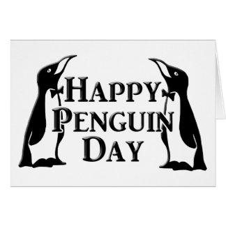 Día feliz del pingüino tarjeta de felicitación
