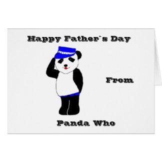 Día feliz del ` s del padre de la panda tarjeta de felicitación