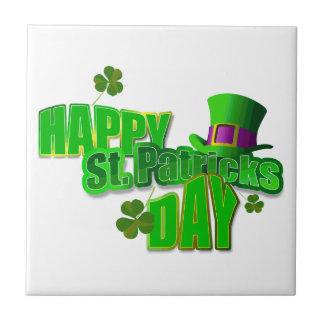 Día feliz del St. Patricks Azulejo