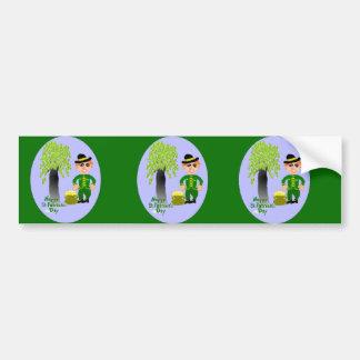 Día feliz del St Patricks Etiqueta De Parachoque