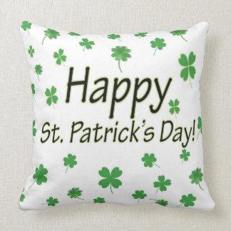 Día feliz del St Patricks Cojín Decorativo