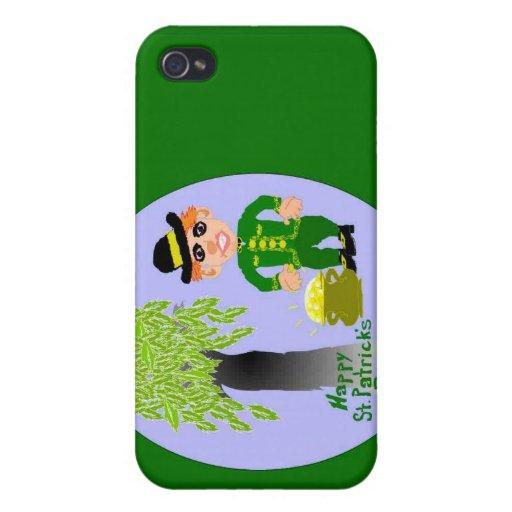 Día feliz del St. Patricks iPhone 4/4S Fundas