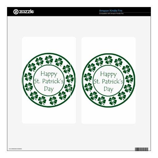 Día feliz del St Patricks Kindle Fire Skins
