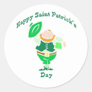 Día feliz del St Patricks Pegatinas