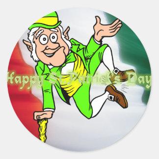 Día feliz del St Patricks Etiquetas Redondas