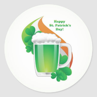 Día feliz del St Patricks Pegatina Redonda