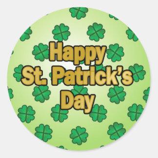 Día feliz del St Patricks Pegatina