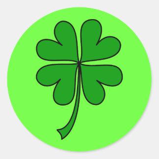 ¡Día feliz del St Patricks Etiqueta Redonda