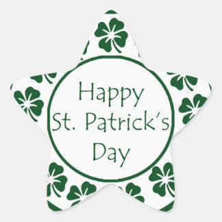 Día feliz del St Patricks Calcomania Cuadrada Personalizada