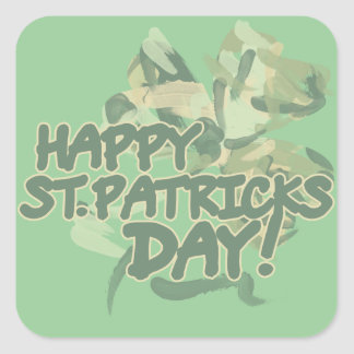 Día feliz del St Patricks Colcomanias Cuadradas
