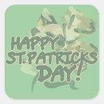 Día feliz del St Patricks Pegatina Cuadrada
