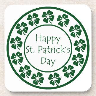Día feliz del St Patricks Posavasos De Bebidas