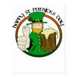 Día feliz del St. Patricks Tarjetas Postales
