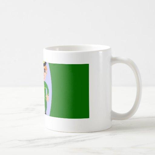 Día feliz del St. Patricks Taza De Café
