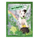 Día feliz del St Pattys del perrito original de Ja Postal