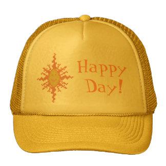 ¡Día feliz! Gorra del resplandor solar