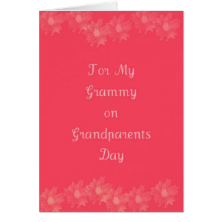 Día feliz Grammy de los abuelos Tarjeta De Felicitación