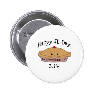 ¡Día feliz lindo del pi! Pin Redondo De 2 Pulgadas