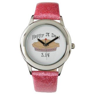 ¡Día feliz lindo del pi! Relojes De Mano