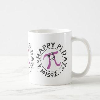 Día feliz lindo del pi taza