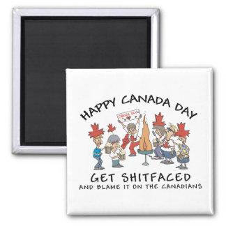 Día feliz muy divertido de Canadá Imán De Frigorífico