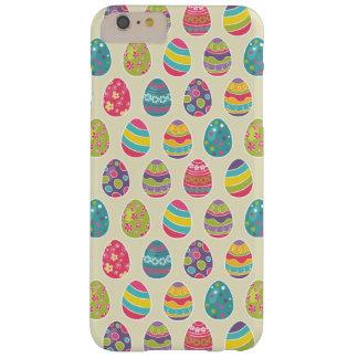 Día feliz retro con clase de Pascua de los huevos Funda Barely There iPhone 6 Plus