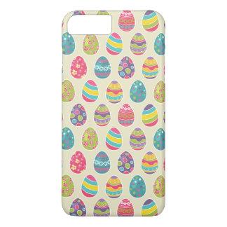 Día feliz retro con clase de Pascua de los huevos Funda iPhone 7 Plus