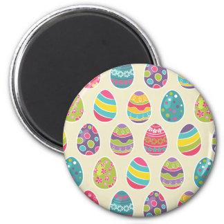 Día feliz retro con clase de Pascua de los huevos Imán Redondo 5 Cm
