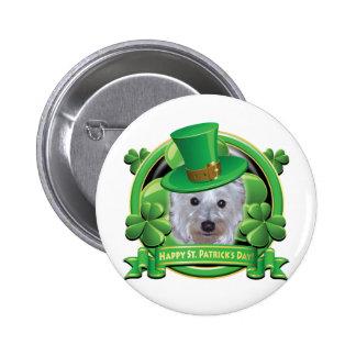 Día feliz Westie del St Patricks Pins