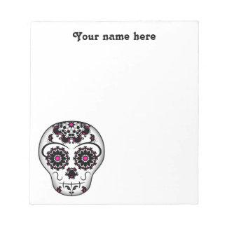 Día femenino del cráneo muerto del azúcar blocs de notas