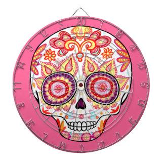 Día femenino lindo del Dartboard del cráneo del az Tablero Dardos
