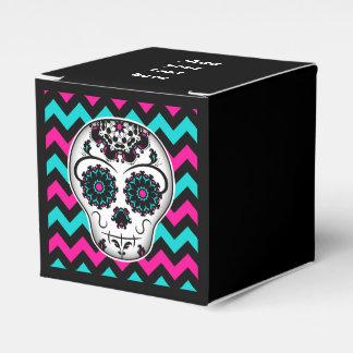 Día femenino lindo del favor muerto del cráneo del caja para regalos