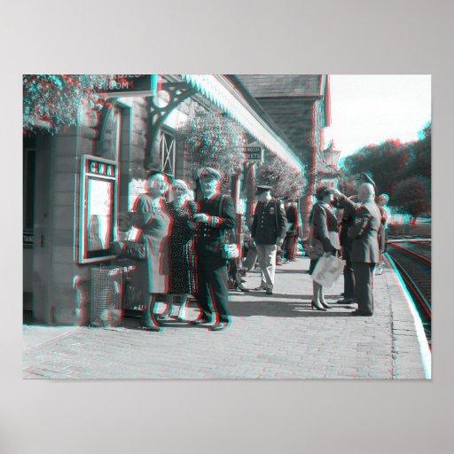 Día ferroviario de los 7 años 40 del valle, Shrops Impresiones