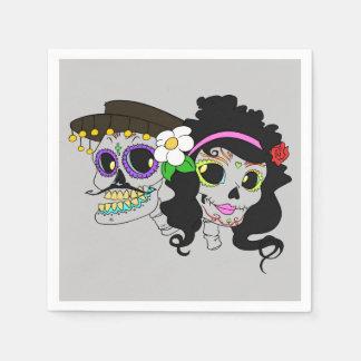 Día festivo del arte muerto servilleta de papel