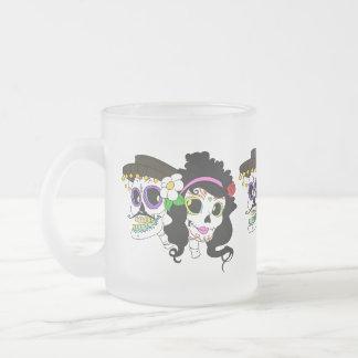 Día festivo del arte muerto taza de cristal