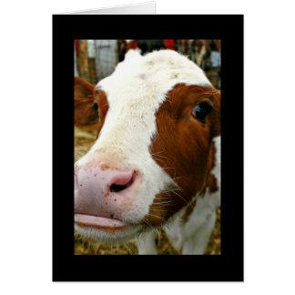 Día fresco de la tía madre de Udderly con la vaca Tarjeta De Felicitación
