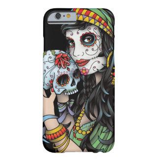 Día gitano de la mujer de los muertos funda de iPhone 6 barely there
