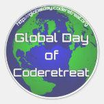 "Día global de Coderetreat 3"" pegatina"