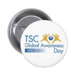 Día global de la conciencia del CAC Pin Redondo 5 Cm