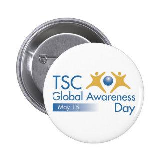 Día global de la conciencia del CAC Pin Redondo De 2 Pulgadas