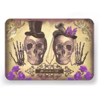 Día gótico de los cráneos de las tarjetas muertas
