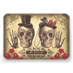 Día gótico de los cráneos de las tarjetas muertas  comunicados personalizados