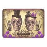 Día gótico de los cráneos de las tarjetas muertas comunicado