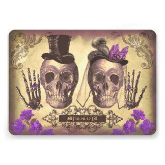 Día gótico de los pares del cráneo de la púrpura m