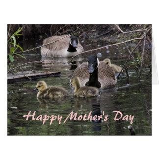 Día GRANDE del ganso y de madre de los ansarones Tarjeta De Felicitación Grande