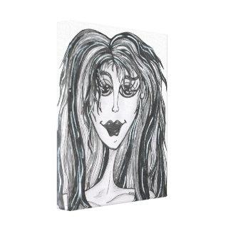 Día grande del pelo lienzo envuelto para galerías