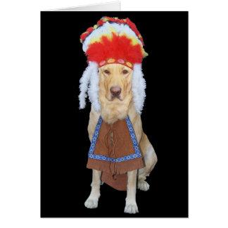 Día grande divertido del perro/de padre del tarjeta de felicitación