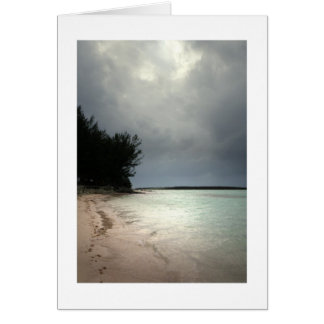 Día gris en el Caribe Tarjeta Pequeña